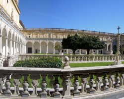 Perfect City Break Holiday, Italy, Naples, Certosa di San Martino court view