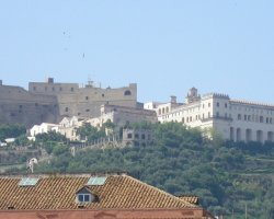 Perfect City Break Holiday, Italy, Naples, Sant Elmo Castle panoramic view
