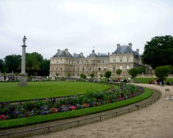 Perfect spring Holiday, Paris, Luxembourg Gardens, French Senat overview