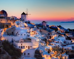 Perfect spring Holiday, Santorini, City overview