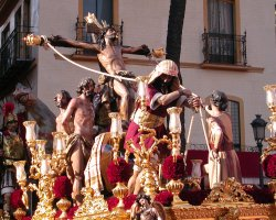 Perfect spring Holiday, Sevilla, Semana Santa, Allegorical Car with Easter motif