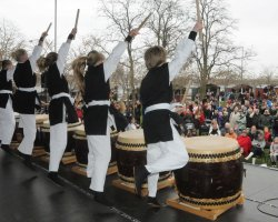 Perfect spring Holiday, Copenhagen, Sakura Festival, Drums episode