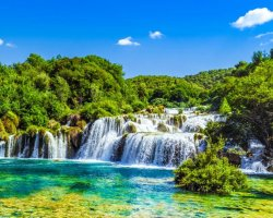 Perfect Summer Holiday Destinations, Croatia, Waterfall overview