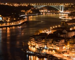 Perfect Summer Holiday Destinations, Porto, City bridge by night