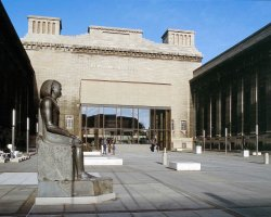 Pergamon Museum, Berlin, Germany, Courtyard at entrance