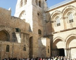 Pilgrimage Protocol, Holy Sepulchre, Jerusalem, Queue at the entrance