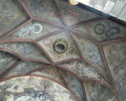 Prague, Czech Republic, Ceiling of the Bridge Tower