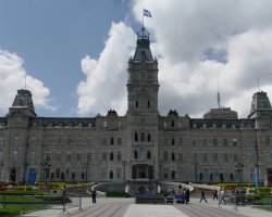 Quebec City, Canada, City parliament front view