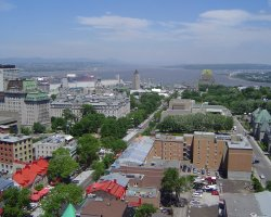 Quebec City, Canada, Looking down over Lower City
