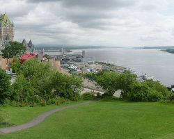 Quebec City, Canada, Chateau Frontenac panorama