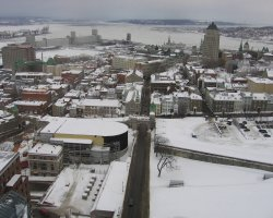Quebec City, Canada, City overview on winter