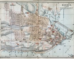 Quebec City, Canada, An old map of the city