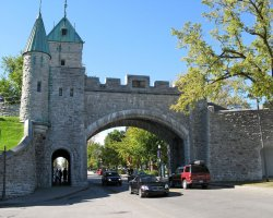 Quebec City, Canada, City Wall gate