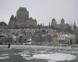Quebec City, Canada, River at winter