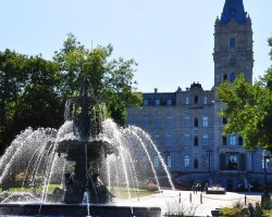 Quebec City, Canada, Tourny water fountain infront of the parliament