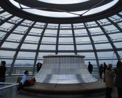 Reichstag, Berlin, Dome interior top view