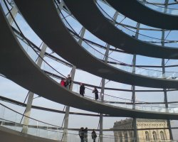 Reichstag, Berlin, Interior Dome walking ways