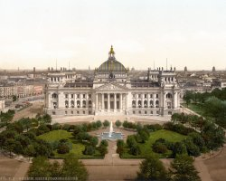 Reichstag, Berlin, Old colored picture