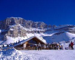 Madonna di Campiglio, Italy, Europe, Slope Lodge