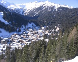 Madonna di Campiglio, Italy, Europe, Resort panorama