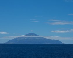 Remote Holiday, Tristan da Cunha, Far view of the mountain peak