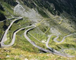 Destinations once a Lifetime, Romania, Transfagarasan, Twisty road upview