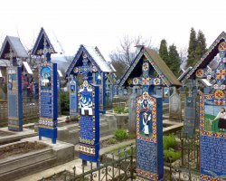 Destinations once a Lifetime, Sapanta, Romania, Merry Cemetery, Crosses