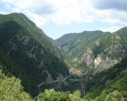Destinations once a Lifetime, Romania, Transfagarasan, Road winding through the mountains