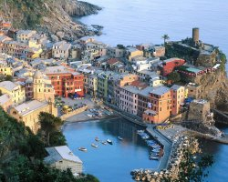 Romantic Holiday, Liguria, Italy, Cinque Terre up view