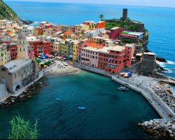 Romantic Holiday, Liguria, Italy, Cinque Terre overview