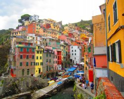Romantic Holiday, Liguria, Italy, Cinque Terre close view