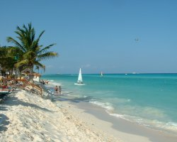 Romantic Holiday, Mexico, Riviera Maya beach view