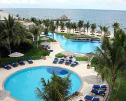 Romantic Holiday, Mexico, Riviera Maya resort down view