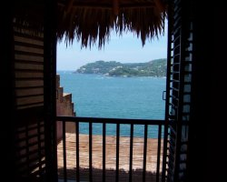 Romantic Luxury Hotel, La Casa Que Canta, Mexico, View from bedroom