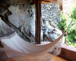 Romantic Luxury Hotel, La Casa Que Canta, Mexico, Hammock for relaxation