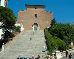 Rome, Italy, Santa Maria in Aracoeli stairs to the basilic