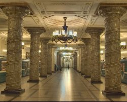 Saint Petersburg, Russia, Subway station