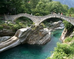 Secret Destination Holiday, Ticino, Switzerland, The bridge at Lavertezzo