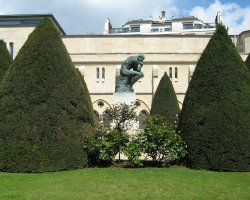 Secret Garden, Paris, France, Rodin Museum Garden, Sculpture The Thinker
