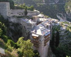 Select Holiday, Mount Athos, Greece, Europe, Close monasterie overview