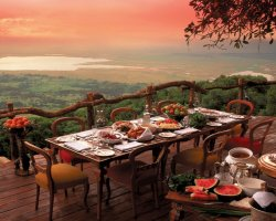Sensational Panorama Restaurant, Tanzania, Africa, Ngoro Ngoro Crater Lodge view