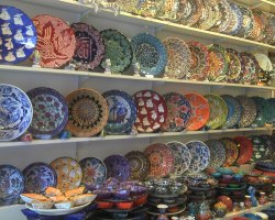 September Destination, Istanbul, Turkey, Shopping areas painted ceramics