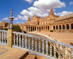 Seville, Spain, Plaza de Espana overview