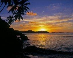 Seychelles Islands, Africa, Sunset