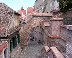 Sibiu Holiday, Sibiu, Romania, City walls and streets