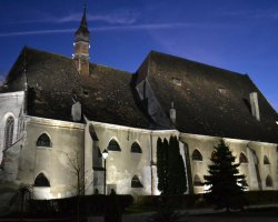 Sighisoara, Romania, Fortress Church at night