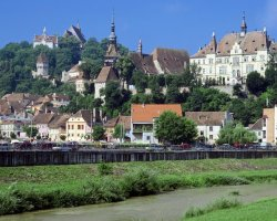 Sighisoara, Romania, City Hill view