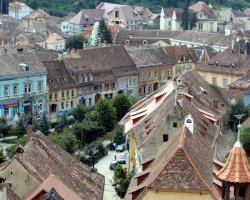Sighisoara, Romania, Top view