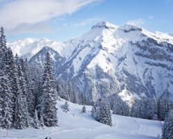 Ski Holiday, Courchevel, France, Mountains overview