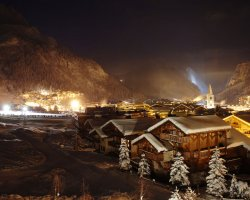 Ski Holiday, Val DIsere, France, Town by night2